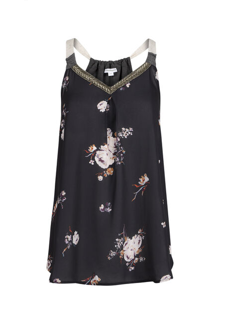 Ladies' Floral Ruched Back Tank