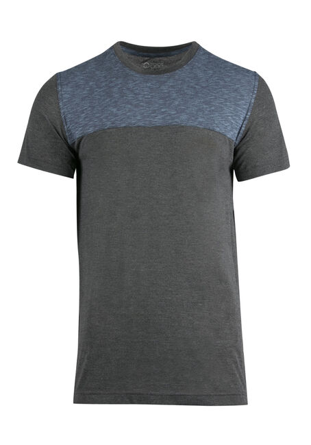 Men's Colour Block Tee, BLUE, hi-res