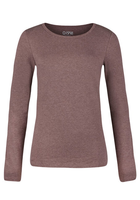 Ladies' Crew Neck Tee, BROWNSTONE, hi-res