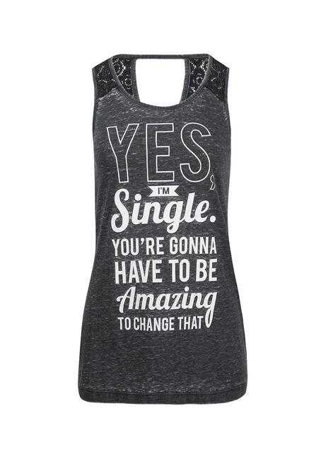 Ladies' Yes I'm Single Tank