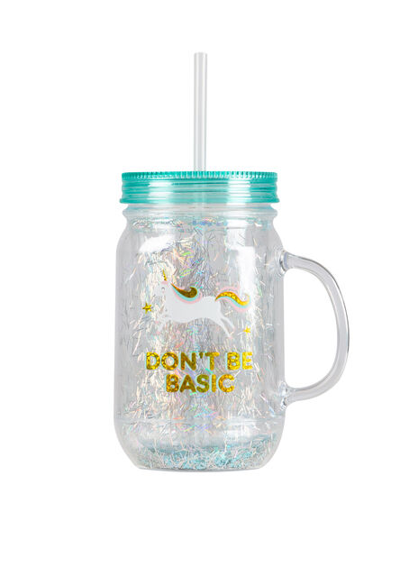 Don't Be Basic Unicorn Mason Jar