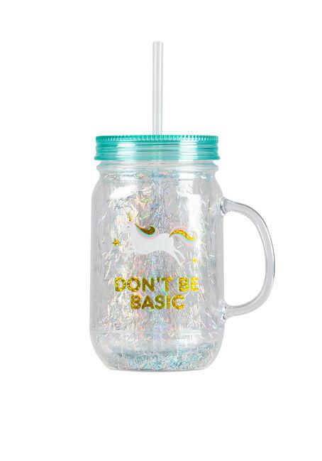 Don't Be Basic Unicorn Mason Jar