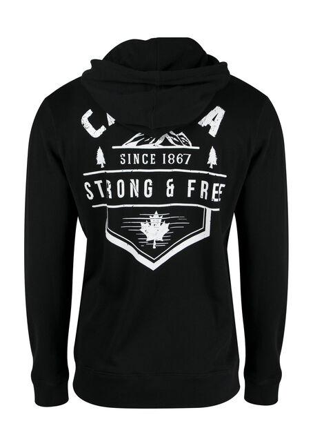 Men's Canada Hoodie, BLACK, hi-res