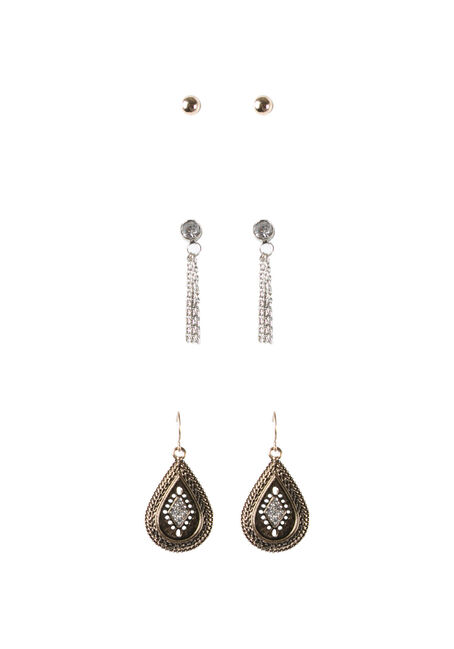 Ladies' Trio Boho Earring Set