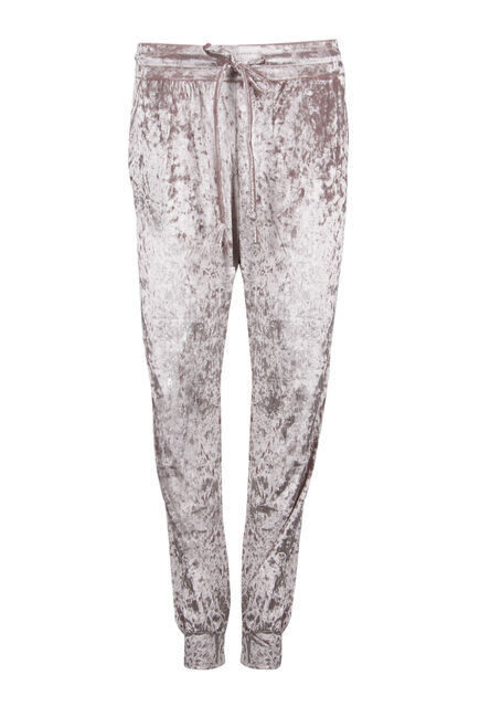 Ladies' Crushed Velvet Jogger