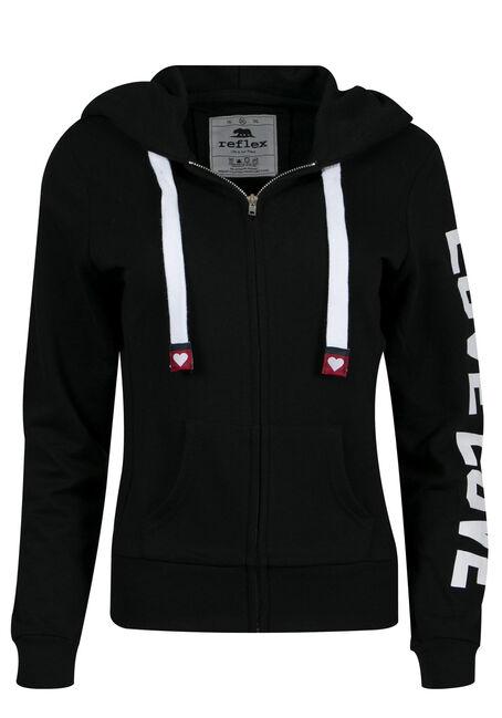 Ladies' PLus Size Love Zip Up Hoodie