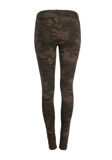 Ladies' Camo Print Legging, OLIVE, hi-res