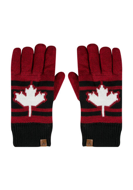 Men's Canada Gloves, BLACK, hi-res