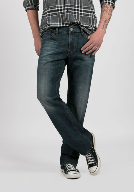 Men's Straight Leg Jeans, MEDIUM VINTAGE WASH, hi-res