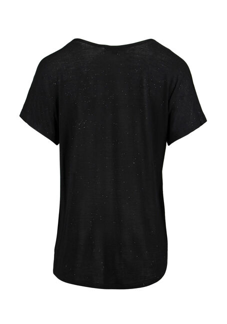 Ladies' Shimmer Tee, BLACK, hi-res