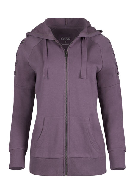 Ladies' Lace Up Grommet Sleeve Hoodie