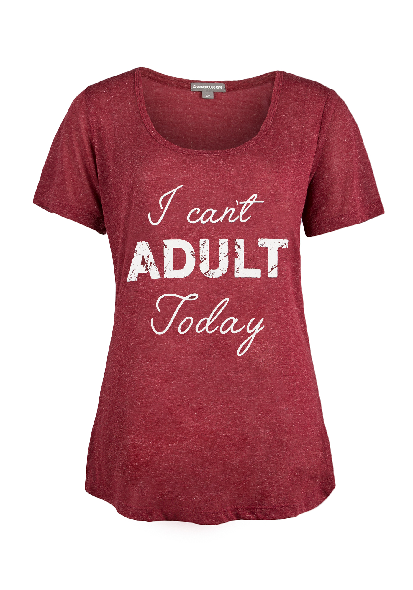 Ladies' I Can't Adult Today Tee, ROSEBUD, hi-res