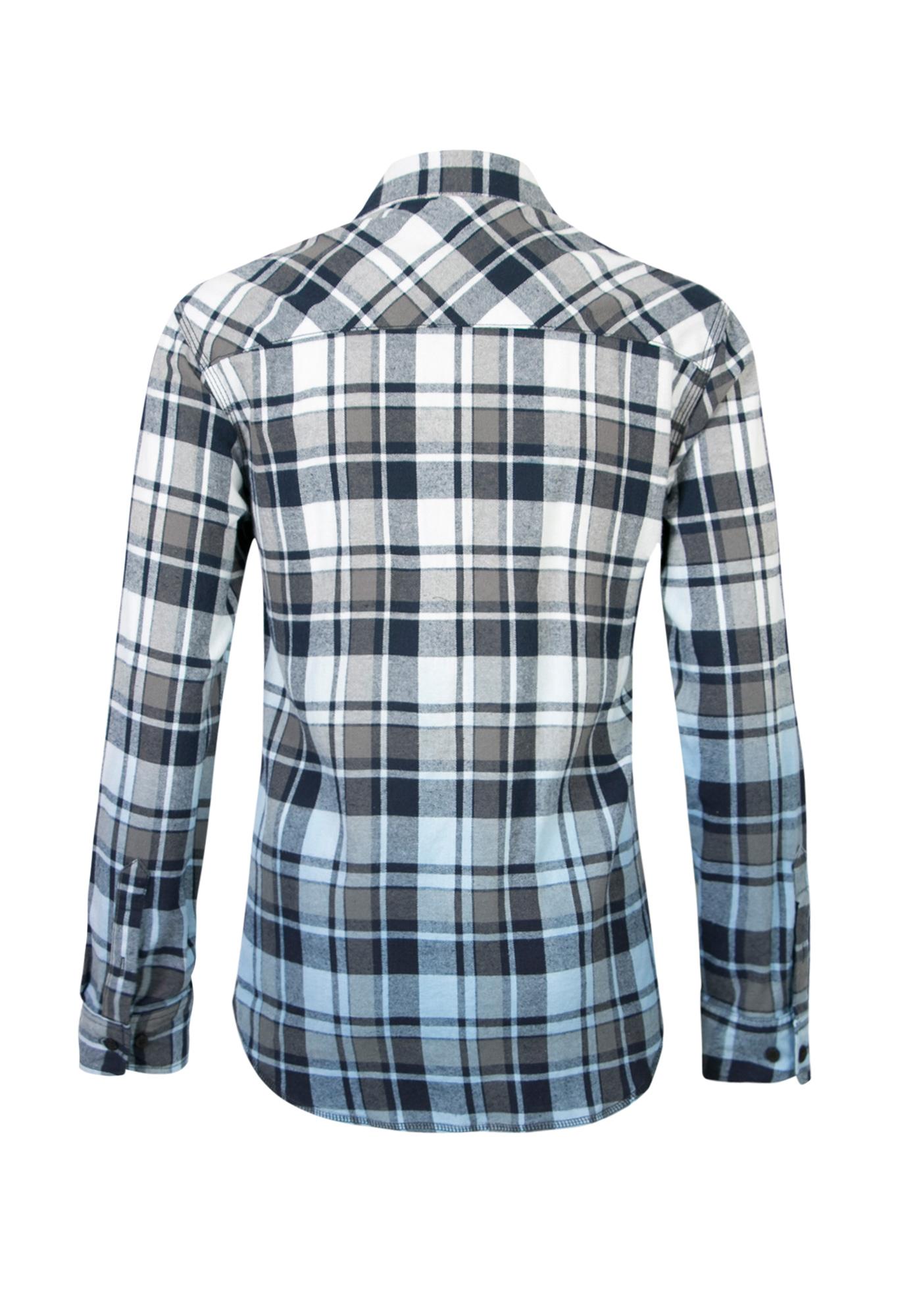 Men 39 s dip dye flannel shirt for Mens dip dye shirt
