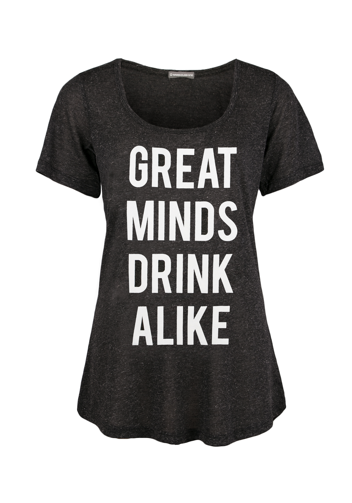 Ladies' Great Minds Drink Alike Tee, BLACK, hi-res