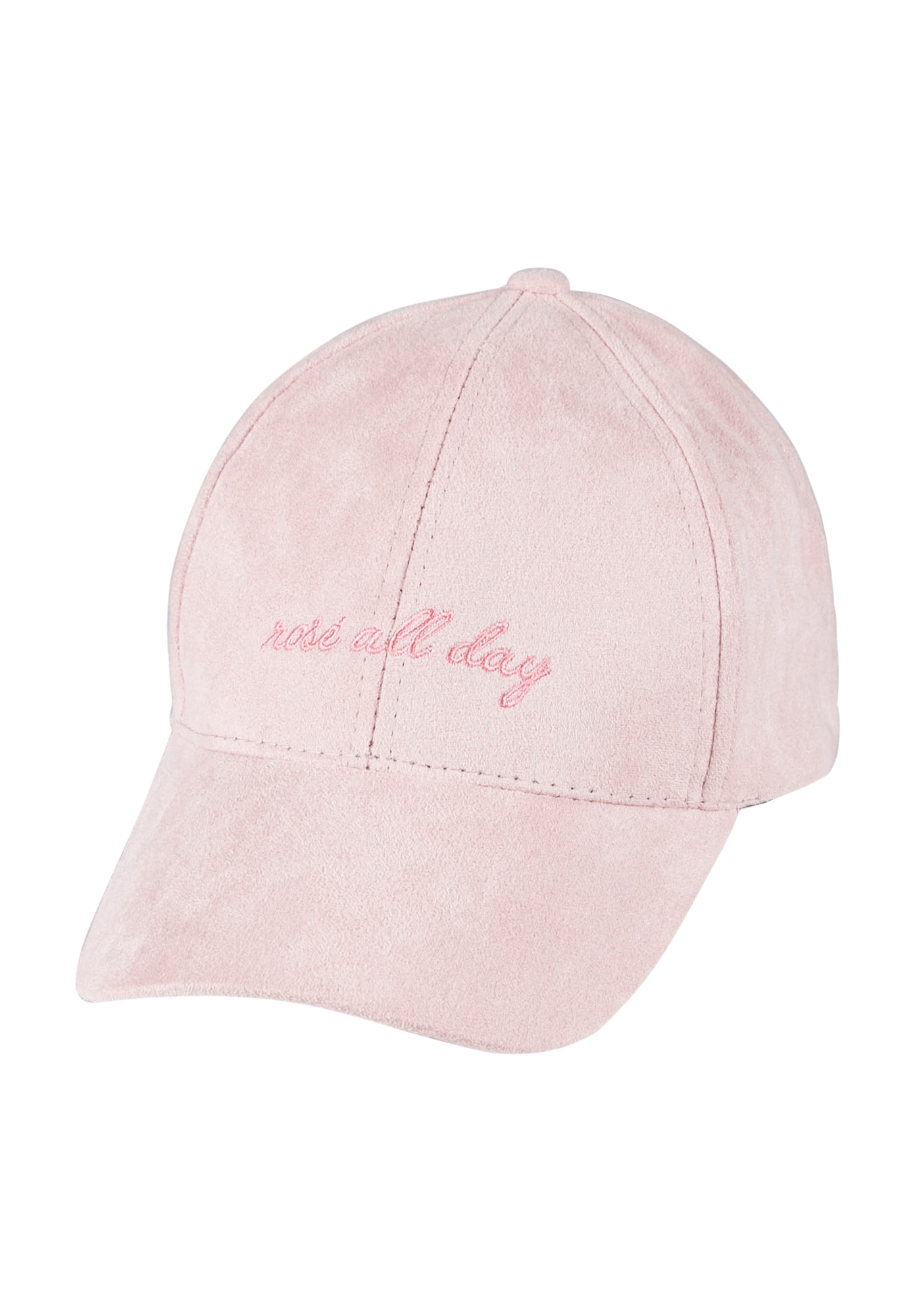Ladies'  Faux Suede Baseball Hat, PINK, hi-res