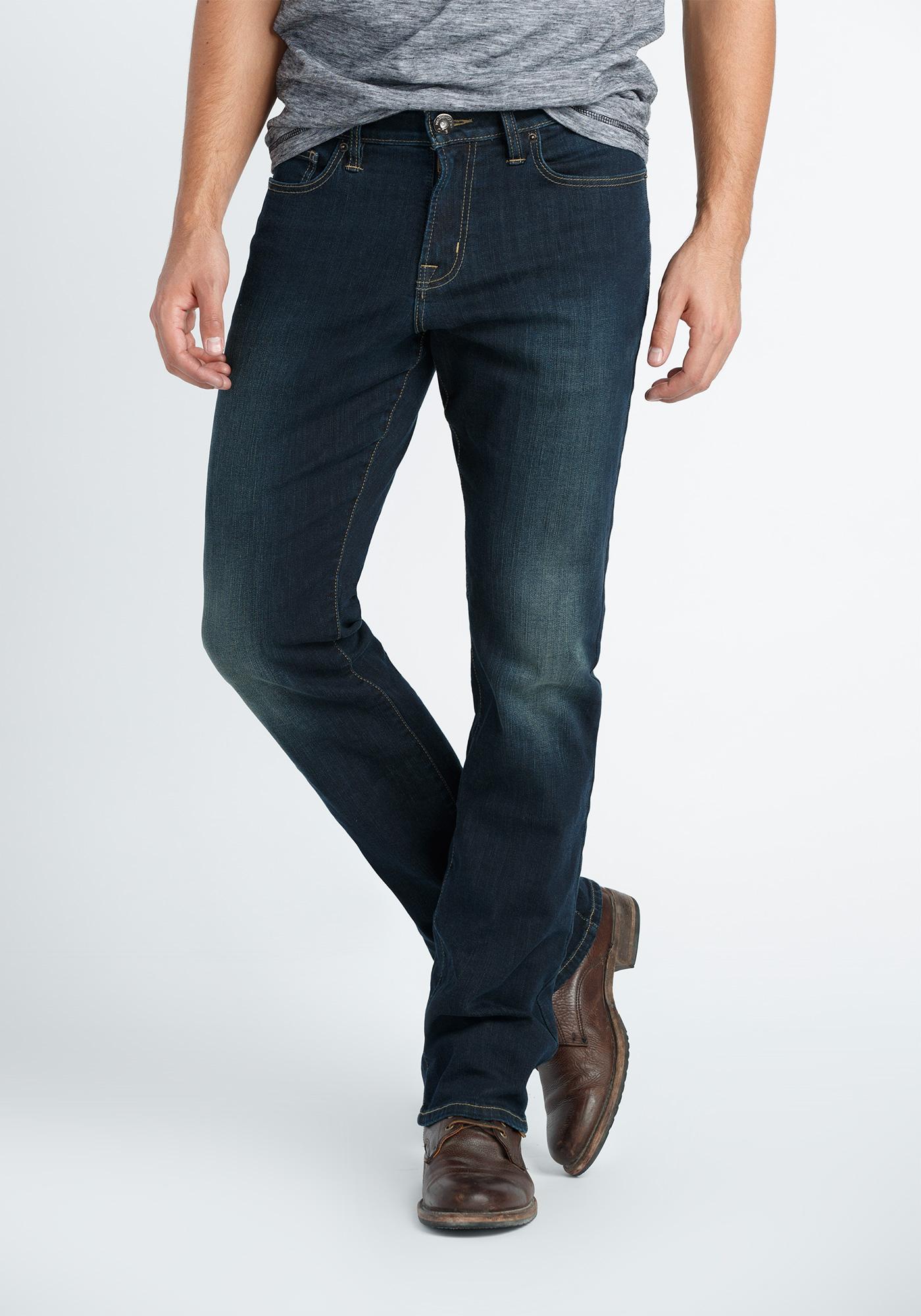 Mens Dark Wash Bootcut Jeans