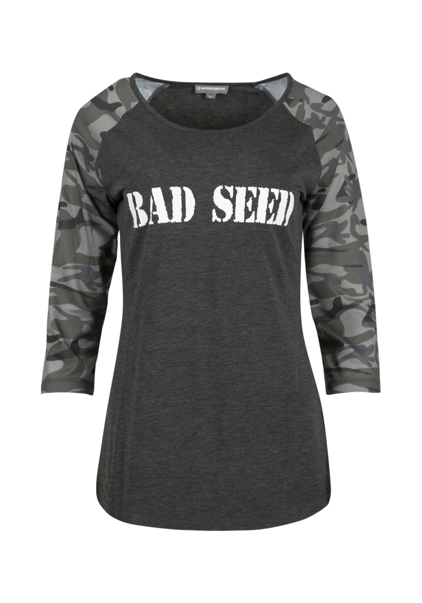 Ladies' Bad Seed Baseball Tee, CAMO, hi-res