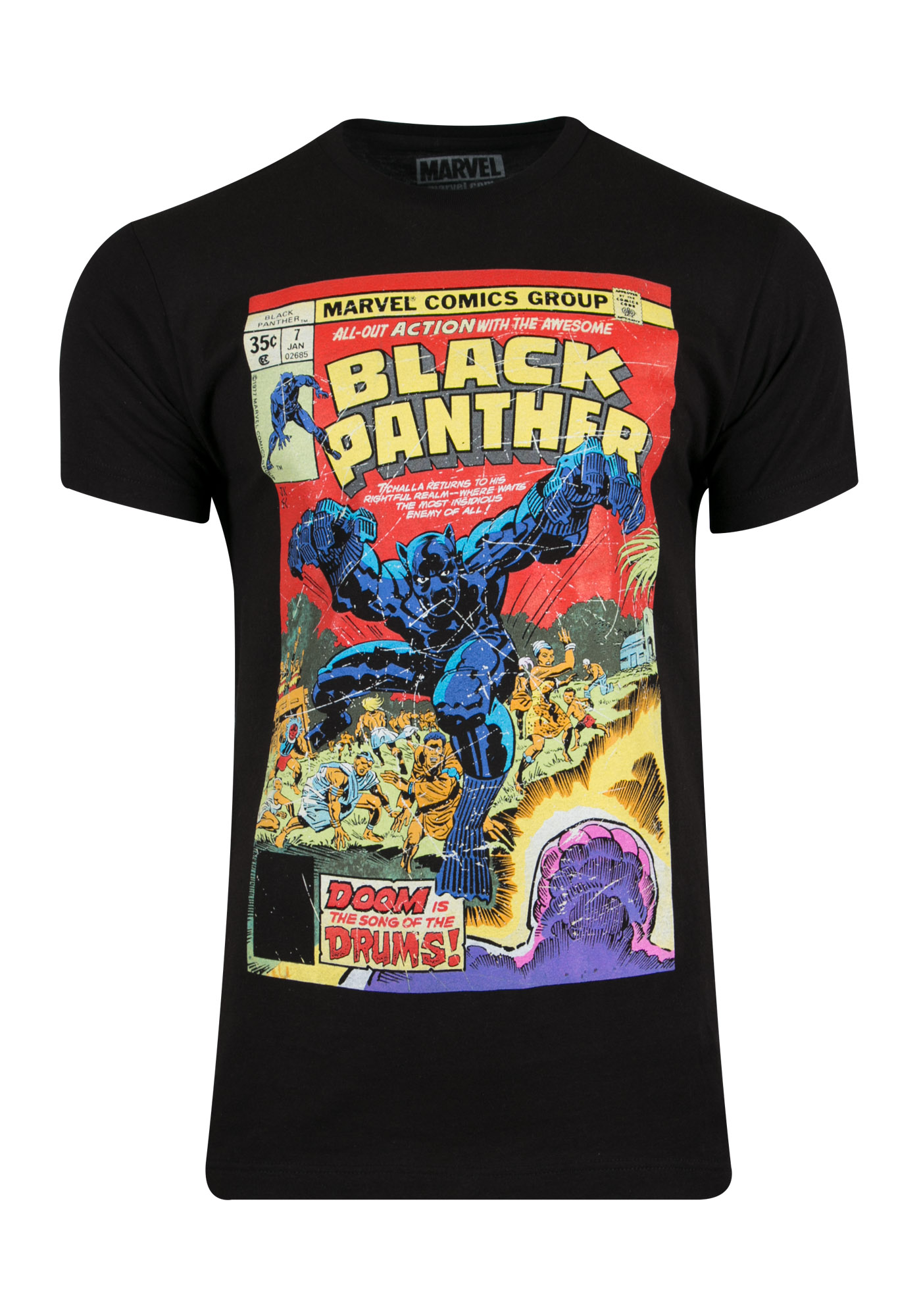 Men S Black Panther Comic Tee