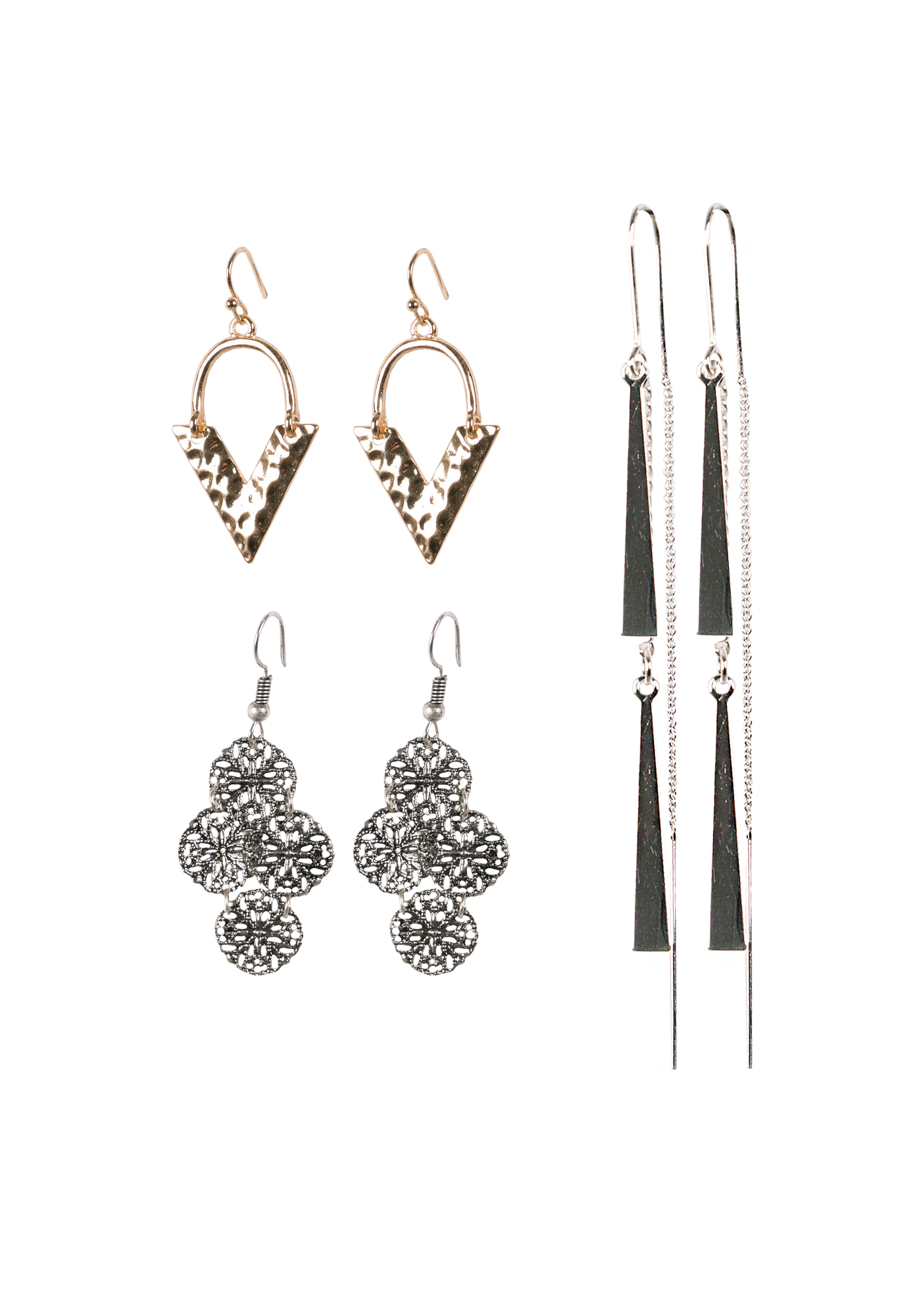 Ladies' Earring Set, MIXED METALS, hi-res