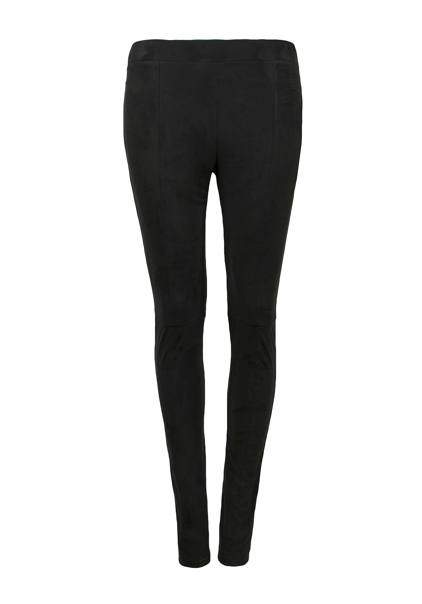 Ladies' Faux Suede Legging, BLACK, hi-res