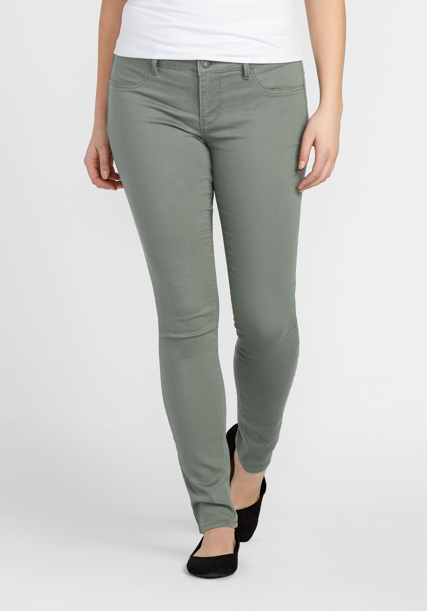 Ladies' Skinny Super Stretch Pant, OLIVE, hi-res
