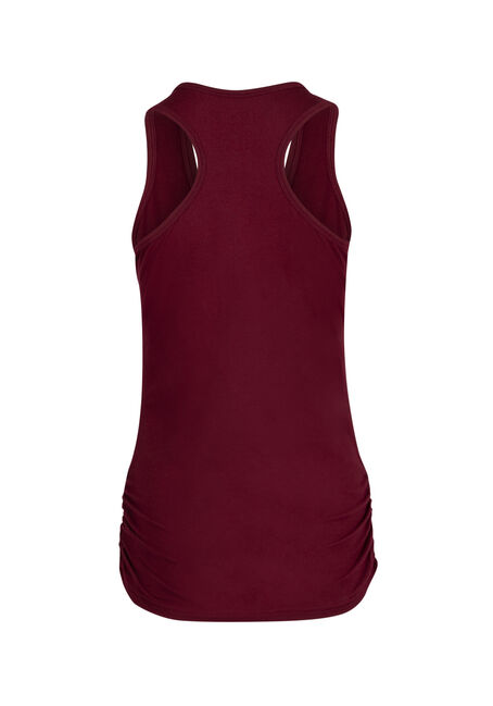 Ladies' Super Soft Ruched Tank, CARDINAL, hi-res