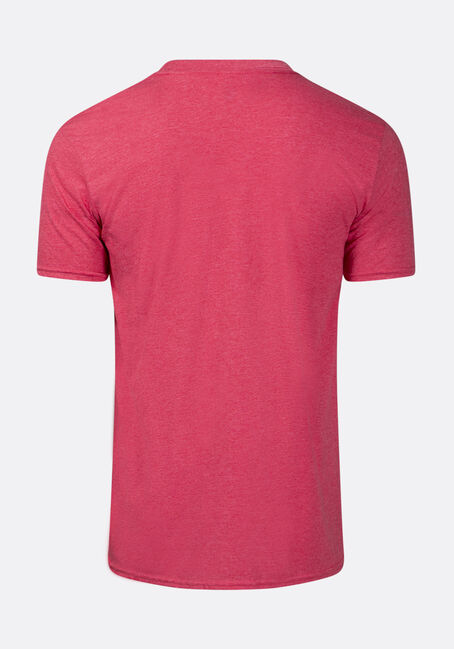 Men's Warning- Contains Facts Tee, HEATHER RED, hi-res