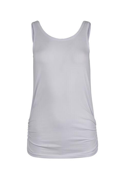 Ladies' Super Soft Ruched Side Tank, WHITE, hi-res