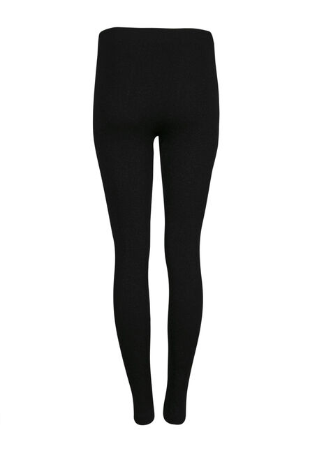 Ladies' Glitter Plush Legging, BLACK, hi-res