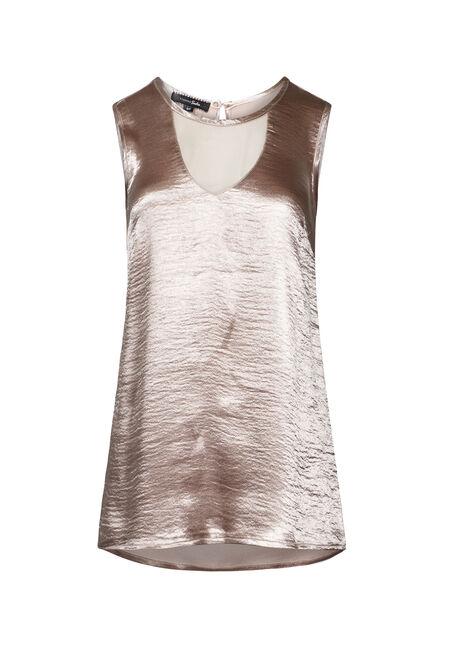 Women's Crinkle Shimmer Tank