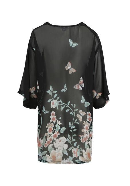 Women's Butterfly Kimono, BLACK, hi-res