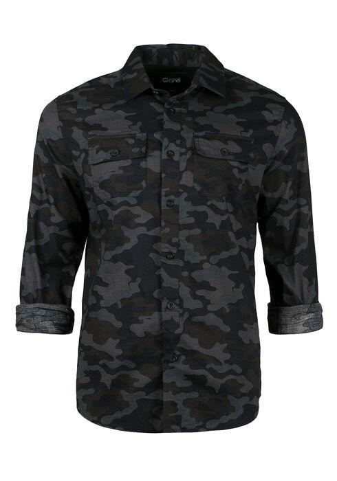 Men's Camo Shirt, GREY, hi-res