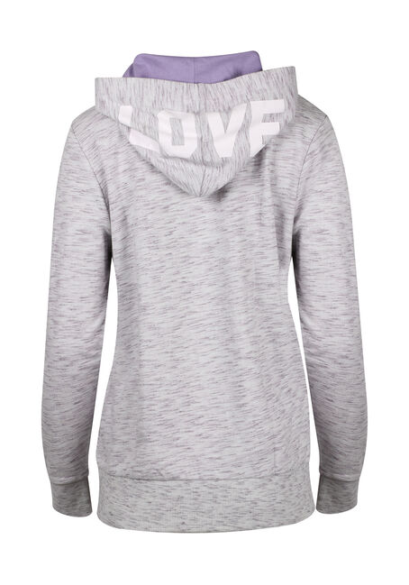Ladies' Love Zip Up Hoodie, DAHLIA, hi-res