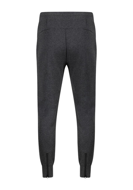 Men's Zip Fleece Jogger, CHARCOAL, hi-res