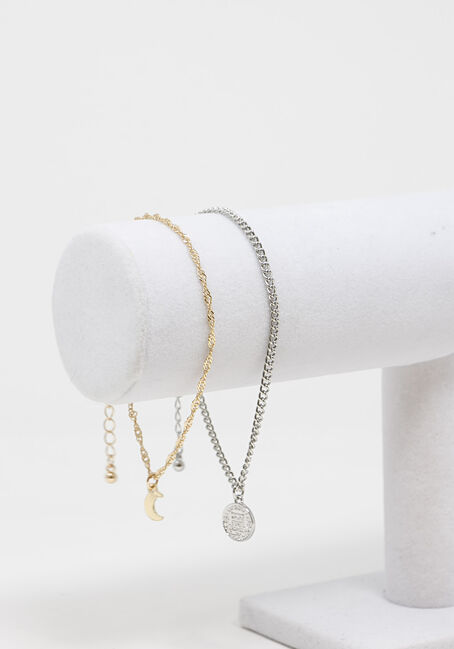 Chain and Charm Anklet Set
