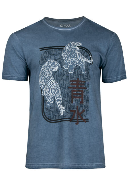 Men's Washed Tiger Tee