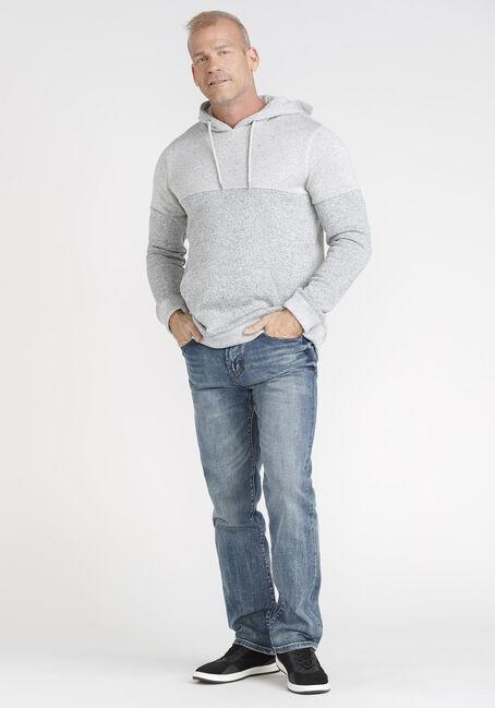 Men's Sweater Knit Hoodie, LIGHT GREY, hi-res