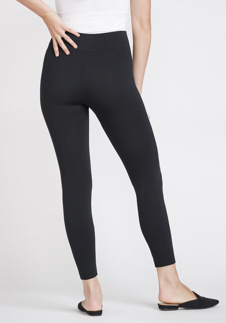Women's High Waisted Fleece Legging, BLACK, hi-res