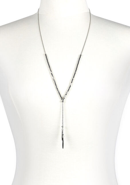 Women's Beaded Lariat Necklace