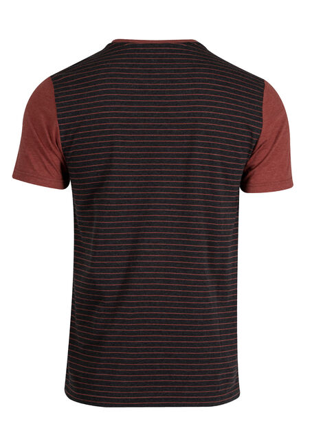Men's Everyday Contrast Pocket Tee, BRICK, hi-res
