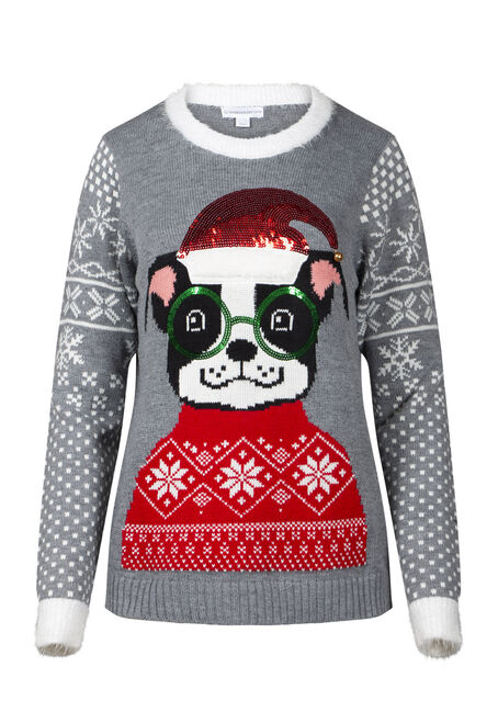 Women's Puppy Holiday Sweater