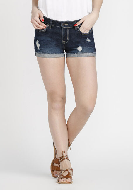 Women's Cuffed Denim Short