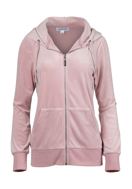 Ladies' Velour Zip Up Hoodie