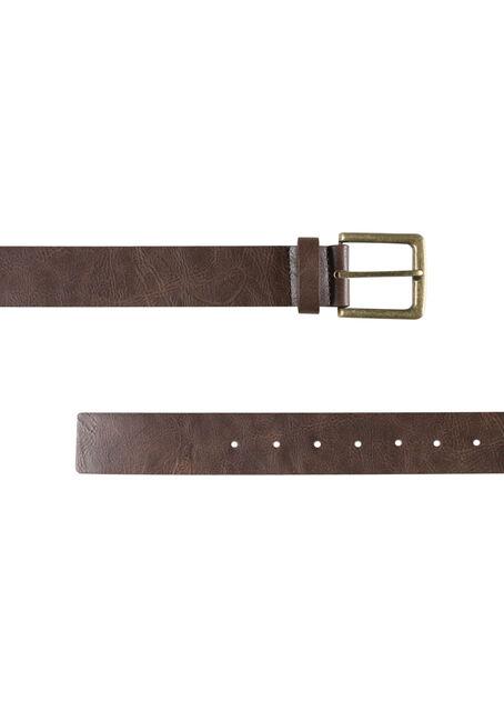 Men's Essential Brown Belt, BROWN, hi-res