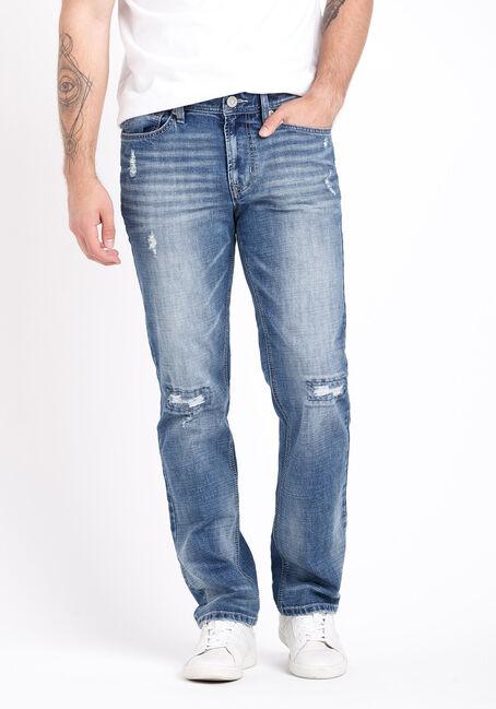 Men's Rip and Repair Slim Straight Jeans