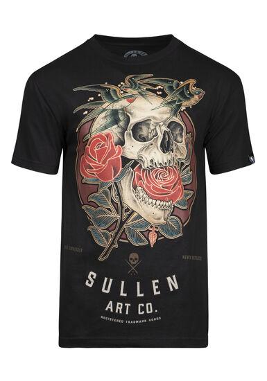 Men's Sullen Skull Graphic Tee, BLACK, hi-res