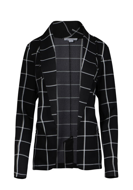 Women's Plaid Blazer