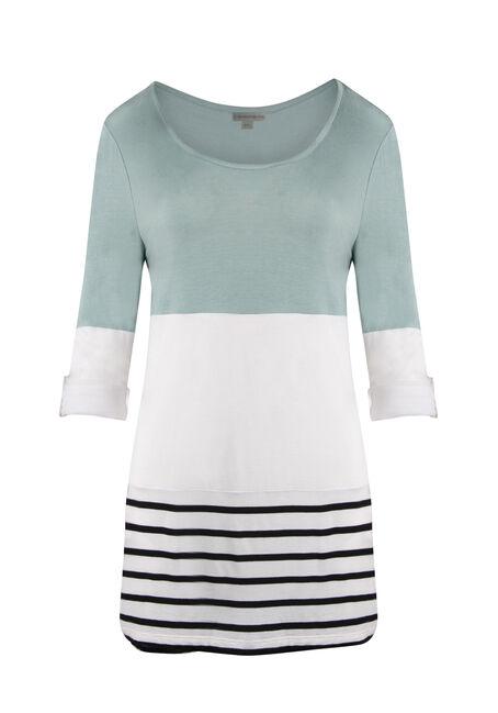 Ladies' Colour Block Stripe Top