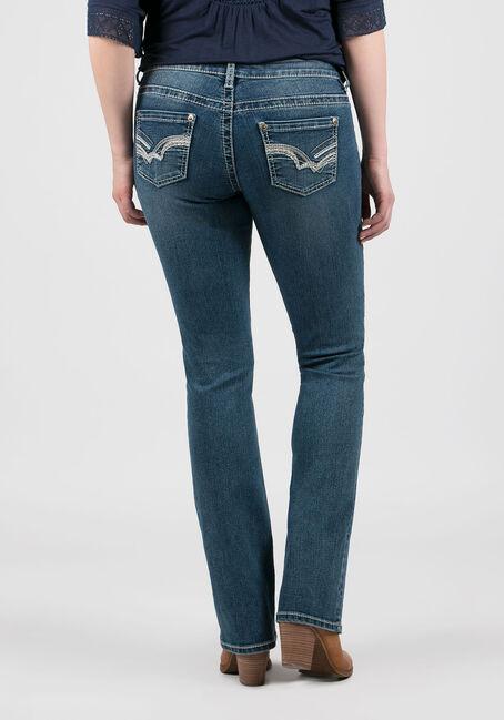 Women's Antique Wash Baby Boot Jeans, MEDIUM WASH, hi-res