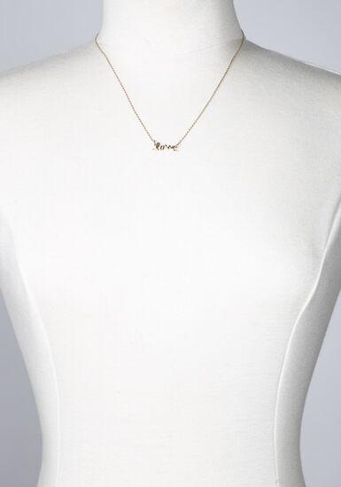 Women's Love Necklace, GOLD, hi-res